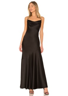 Halston Heritage Cowl Neck Slip Dress