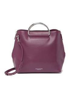 Halston Heritage D-Ring Suede & Leather Satchel