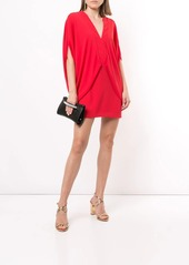 Halston Heritage draped-side mini dress