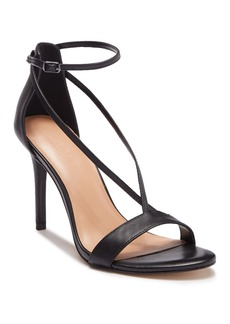 Halston Heritage Evie Black Leather Heel Sandal