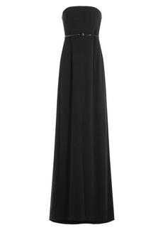 Halston Heritage Floor Length Bandeau Dress