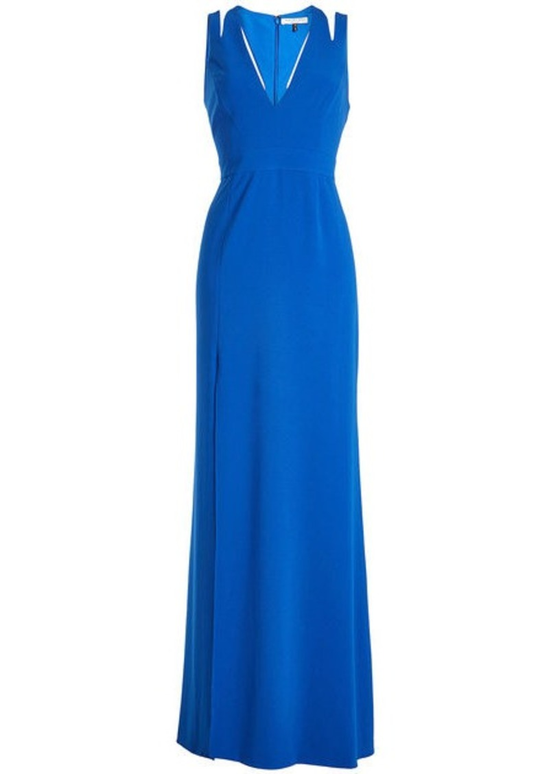 Halston Heritage Floor Length Gown with Cut-Out Detail