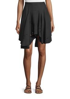 Halston Heritage Flounce Asymmetric-Hem Skirt