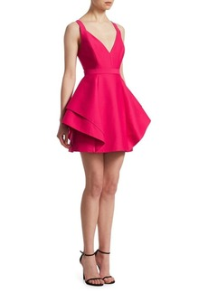 Halston Heritage Flounce Skirt Dress