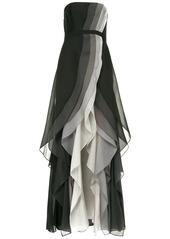 Halston Heritage front slit ruffle dress