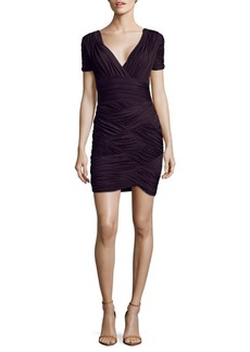 Halston Heritage Gathered Mini Dress