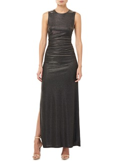 Halston Heritage Halson Heritage Metallic Ruched Cocktail Dress