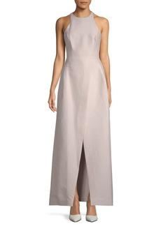 Halston Heritage A-Line Halter Gown