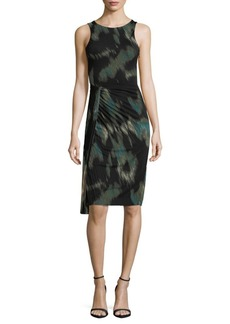 Halston Heritage Abstract Knee-Length Dress