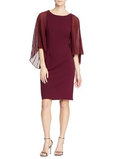 Halston Heritage Angel Sleeve Sheath Dress