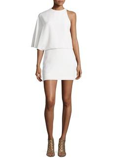Halston Heritage Asymmetric Draped Cocktail Dress