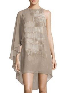 Halston Heritage Asymmetric Flowy Shift Dress