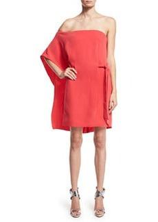 Halston Heritage Asymmetric Off-Shoulder Dress
