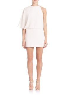 Halston Heritage Asymmetrical Draped Mini Dress