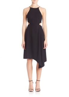 Halston Heritage Asymmetrical Halter Dress