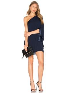 Halston Heritage Asymmetrical Sleeve Mini Dress