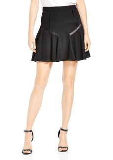 HALSTON HERITAGE Band Detail A-Line Skirt