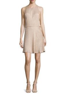 Halston Heritage Beaded Sleeveless Fit-&-Flare Dress