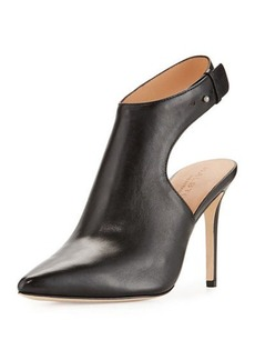 Halston Heritage Betty Pointed-Toe Leather Bootie