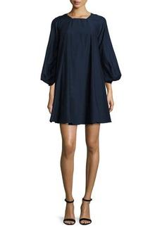 Halston Heritage Bishop-Sleeve A-Line Minidress