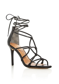 HALSTON HERITAGE Brielle Caged Ankle Tie Sandals