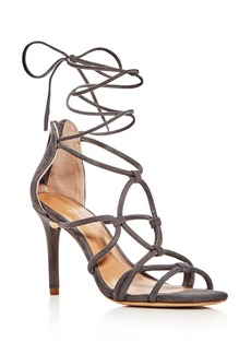 HALSTON HERITAGE Brielle Caged Ankle Wrap High-Heel Sandals
