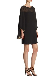 Halston Heritage Butterfly-Sleeve Shift Dress