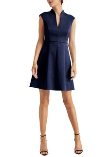 Halston Heritage Cap Sleeve Cocktail Dress