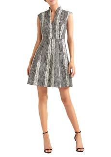 Halston Heritage Cap Sleeve Cocktail Dress
