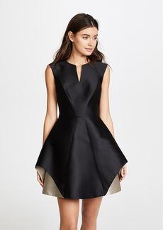 Halston Heritage Cap Sleeve Colorblock Dress