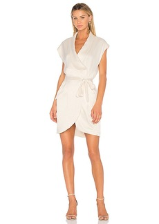 Halston Heritage Cap Sleeve Shirt Dress in Cream. - size L (also in M,S)