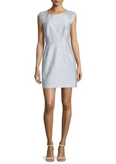 Halston Heritage Cap-Sleeve Structured Dress