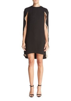Halston Heritage Cape-Back Cocktail Dress