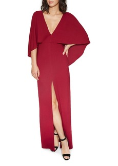 HALSTON HERITAGE Cape Gown