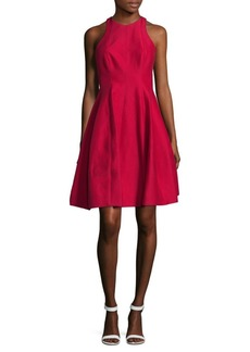 Halston Heritage Carmine Fit-&-Flare Dress