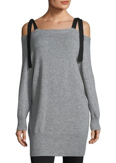 Halston Heritage Cashmere-Blend Off-the-Shoulder Sweater