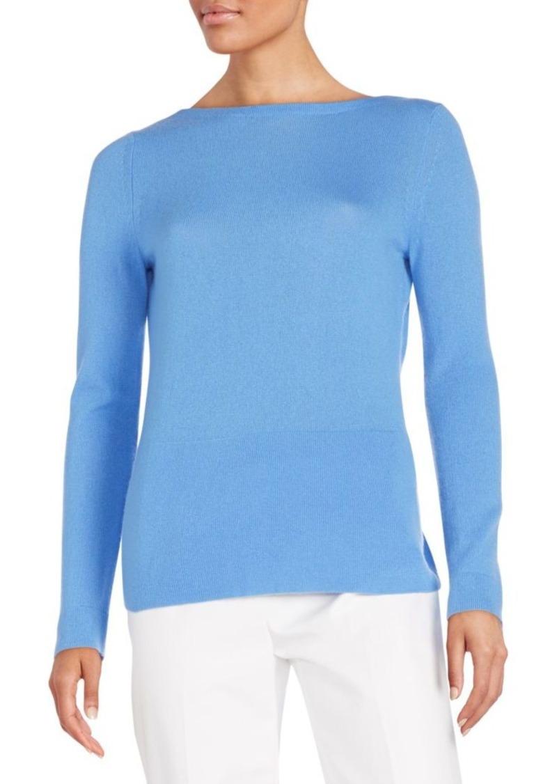 Halston Heritage Cashmere Crossover-Back Sweater