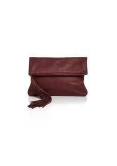 HALSTON HERITAGE Christie Leather Foldover Clutch