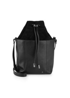 Halston Heritage Classic Leather Bucket Bag