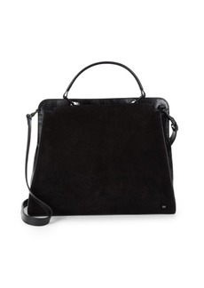 Halston Heritage Classic Leather Satchel