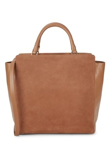 Halston Heritage Leather Tote Shoulder Bag