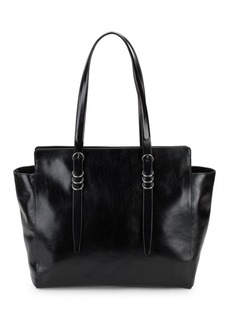 Halston Heritage Classic Leather Shoulder Bag