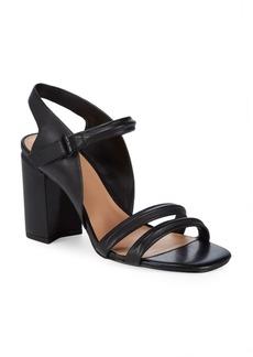 Halston Heritage Classic Leather Slingback Sandals
