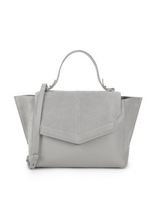 Halston Heritage Classic Leather Top Handle Bag