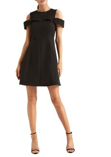 Halston Heritage Cold Shoulder Cocktail Dress