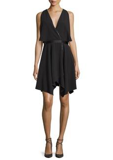 Halston Heritage Cold-Shoulder Cocktail Dress