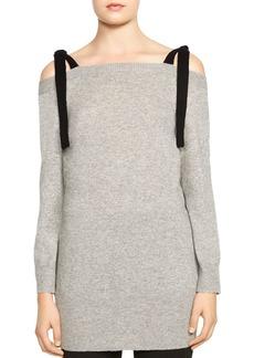 HALSTON HERITAGE Cold-Shoulder Merino Wool & Cashmere Top