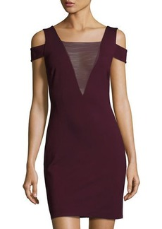 Halston Heritage Cold-Shoulder Ponte Sheath Dress