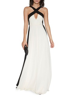 HALSTON HERITAGE Color Block Gown
