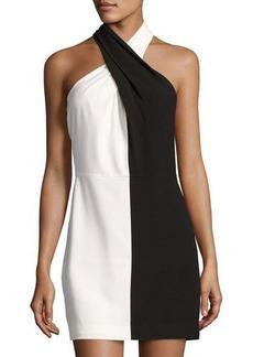 Halston Heritage Colorblock Crepe Dress